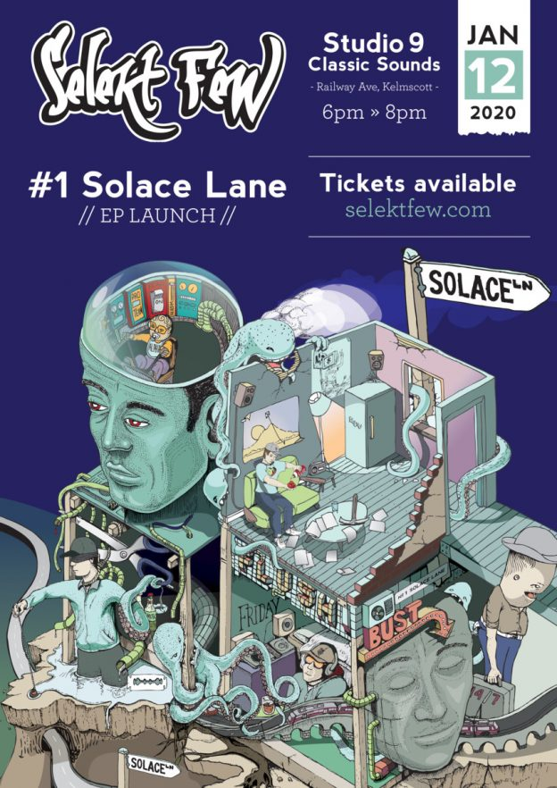 #1 solace lane launch poster
