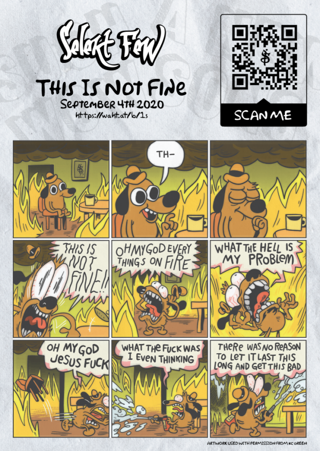 This Is Not Fine - licensed promotion image